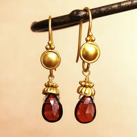 Petit Bell { Earrings } garnet