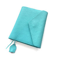 A6 手帳カバー シュリンク型押しレザー【blue bloom】bb006