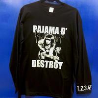 パジャマドデストロイ ロングTシャツ(XLワンサイズオンリー)