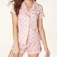 レディースパジャマ 半袖 ストレッチ BedHead Pajamas ベッドヘッドパジャマズ Pink Queen Bee