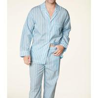 メンズパジャマ 長袖 コットン BedHead Pajamas ベッドヘッドパジャマズ Turquoise Stripe