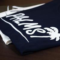 定番!パームスロゴ・5.6オンスコットンTシャツ  ネイビー