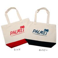 パームスロゴ・カラーボトムキャンバストートバッグ/M