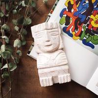 Aztek Stone Carved Bookends