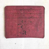 Aasha カードケース~Maroon~ コルク製