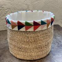 【IBABA RWANDA】手刺繍かご