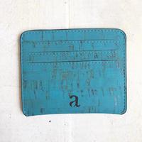 Aasha カードケース~Teal~ コルク製