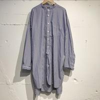 TISSU カッタウェイカフスワークシャツ ネイビーストライプ