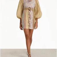 zimmermann ジマーマン  Linen Spliced Mini Dress   ワンピース 定価$695