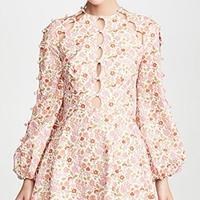 zimmermann ジマーマン Goldie Scallop Short Dress     ワンピース$750