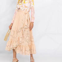 zimmermann ジマーマン Lulu Scallop Wrap Skirt  LULU SCALLOP WRAP SKIRT スカート 定価$795