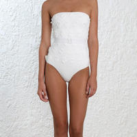 Zimmermann ジマーマン Lumino Daisy One Piece Swimsuit, White 定価$530