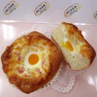 半熟卵のハムマヨパン