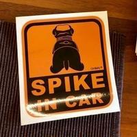 SPIKE IN CAR スッテカー