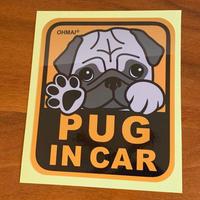 PUG IN CAR ステッカー  その2