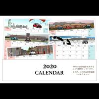 2020年 卓上カレンダー 世界を旅するBMW MINI ミニクーパー