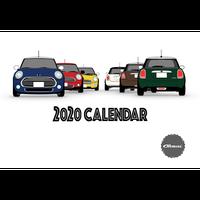 2020年 卓上カレンダー 世界を旅するBMW MINI ミニクーパー  *カード立てなし