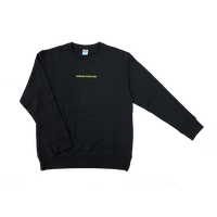刺繍ロゴスウェット / ブラック
