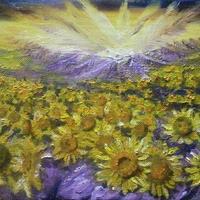 運気アップ絵画『太陽の子』油絵
