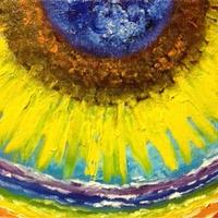運気アップ絵画『真夏の太陽』油絵