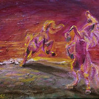 結婚運アップ『赤い馬』油絵