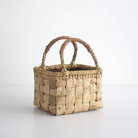 沢胡桃のかごバッグ  『ラブリーサイズ』 手提げ籠  表皮  横幅20cm