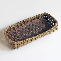 沢胡桃 置きかご(籠) / 横長22×12cm 収納や小物入れなど ozb-706