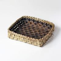 沢胡桃 置きかご(籠) / 22×21cm 収納や小物入れなど ozb-715