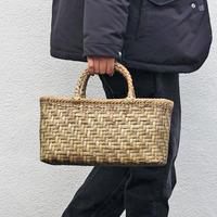 沢胡桃のかごバッグ  網代編み 手提げ籠  表皮