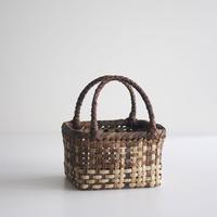 沢胡桃のかごバッグ  『ラブリーサイズ』 手提げ籠  モザイク柄  横幅20cm