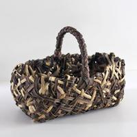 沢胡桃のかごバッグ『乱れ編み ワンハンドル』 32cm幅 手提げ籠