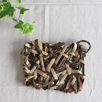 乱れ編みの沢胡桃 トレイ  / 浅いかご(籠) / 収納や小物入れなど ozb-711