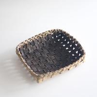 沢胡桃  四角 置きかご(籠) / 20×18cm 収納や小物入れなど ozb-761