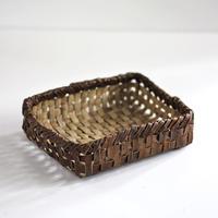 裏皮 沢胡桃の置き籠   (整理かご)
