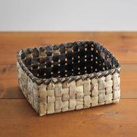 沢胡桃の置きかご 籠 (小物入れ)  表皮 (整理籠) 横25cm×縦幅22cm