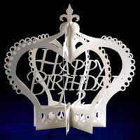 365日のバースデーカード〈ペーパークラウン〉【誕生日入れセミオーダー】
