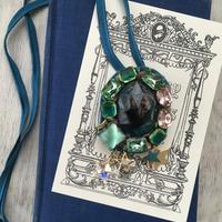 30%off 瑠璃色の地球・ブローチ&ネックレス&帯留め ¥18600→¥13020