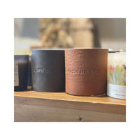 original leather sleeve aroma candle