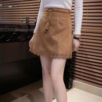 suède mini skirt