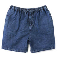 Chemical Washed Color Denim Shorts