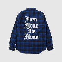 AND SUNS/ ALONE FLANNEL LONG SLEEVE CHECK SHIRT