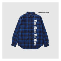 AND SUNS/ ALONE FLANNEL LONG SLEEVE CHECK SHIRT (2.COLORS)