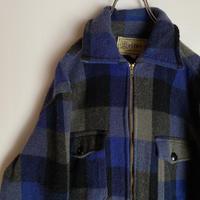 メルトン ウールジャケット melton wool チェック USA製 70s