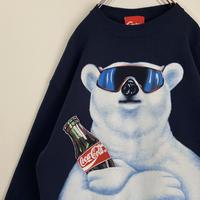 ポーラーベア コカコーラ スウェット CM CocaCola 白くま 90s