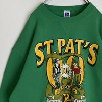 ST.PAT'S スウェット ミズーリ大学 天使 悪魔 2000年 両面プリント