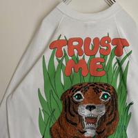 タイガー スウェット 虎 トラ 信じて TRUST ME  立体 80s 90s