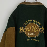ハードロックカフェ hard rock cafe スタジャン レザー 90s
