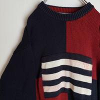トミーヒルフィガー  セーター ニット ビンテージ 90s  tommy