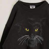 黒猫 BLACK CAT スウェット キャッツ Lee 90s ネコ 猫 ねこ