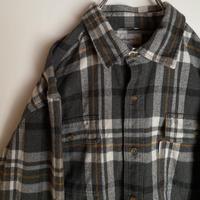 カーハート carhartt チェック 厚手 ネルシャツ ロゴ 90s